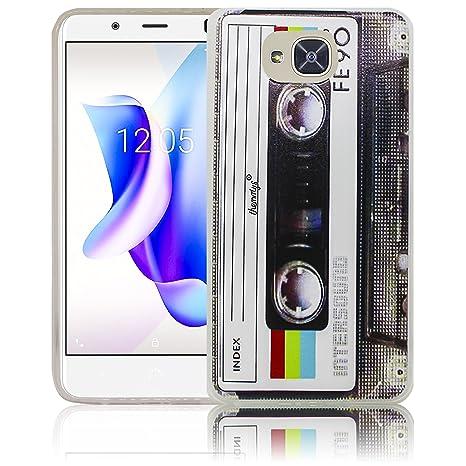 bq Aquaris U2 / bq Aquaris U2 Lite Cassette Casete Retro Funda de Silicona Protectora Funda