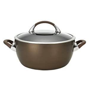 Circulon Symmetry Hard-Anodized Nonstick 5.5-Quart Covered Casserole, Chocolate