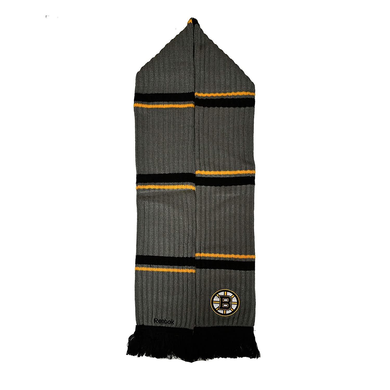 Mens Boston Bruins NHL Reebok Grey Scarf CS527Z
