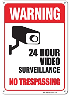 Amazon.com: VIDEO SURVEILLANCE Sign Property Protected 24 Hour ...