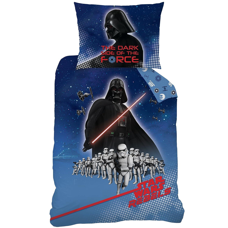 Star Wars 045135/Menace/ 140 x 200 cm algod/ón multicolor /Juego de cama