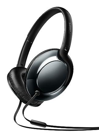 Philips Flite SHL4805DC - Auriculares de Diadema Cerrados (micrófono, diseño metálico, Ultraligero, Plegable), Color Negro: Amazon.es: Electrónica