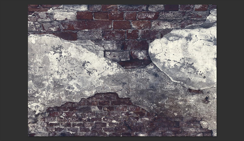 murando Fototapete selbstklebend 49x35 cm Tapete Wandtapete Klebefolie Dekorfolie Tapetenfolie Wand Dekoration Wandaufkleber Wohnzimmer Ziegel Ziegelstein f-A-0500-a-b