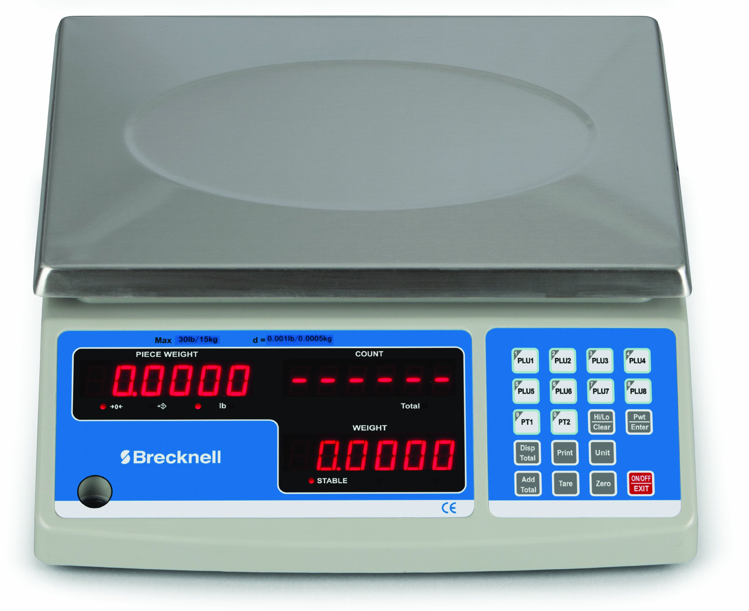 Brecknell B-140 Counting Scale, 6 KG x 0.2 G, 12 LB x 0.005 LB