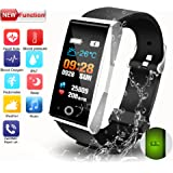 Fitness Tracker, Activity Tracker with Pedometer Blood Pressure Heart Rate Sleep Monitor Bluetooth Calories Call SMS IP67 Waterproof for Kids Women Men Android IOS phone