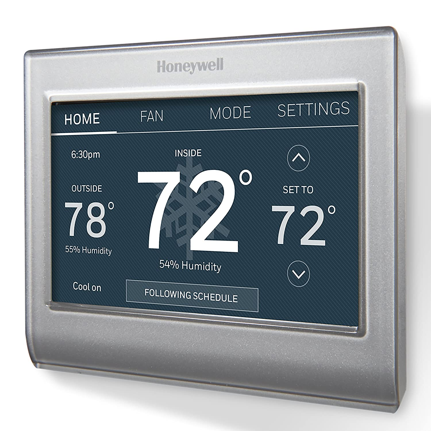 "Honeywell RTH9585WF1004/W Wi-Fi Smart Color Programmable Thermostat, V.  2.0, ""C Wire Required - - Amazon.com"