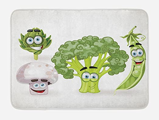 "Vegetable Bath Mat for Bathroom Home Decor Plush Non-Slip Mat 29.5/"" X 17.5/"""