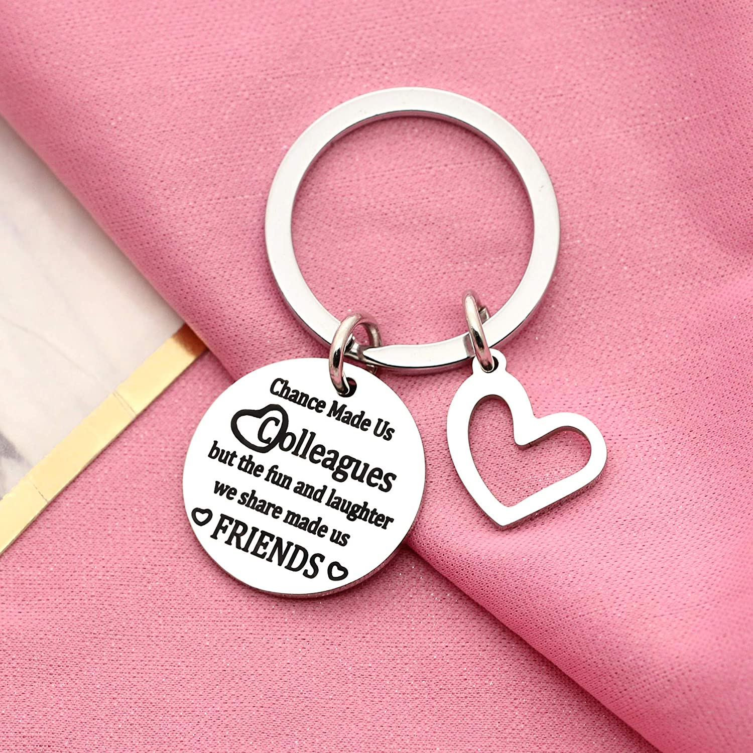 Friends Keyring Friendship Gifts Colleague Thank You Gift Coworker Gift Coworker Appreciation Work Friend Gift