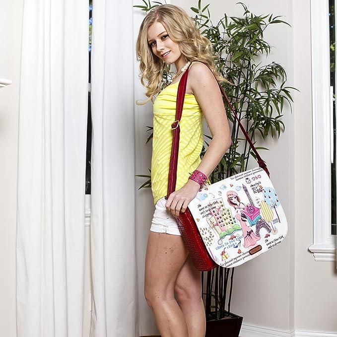 Amazon.com   Nicole Lee Messenger Bag, Shopping Girl, One Size   Messenger Bags