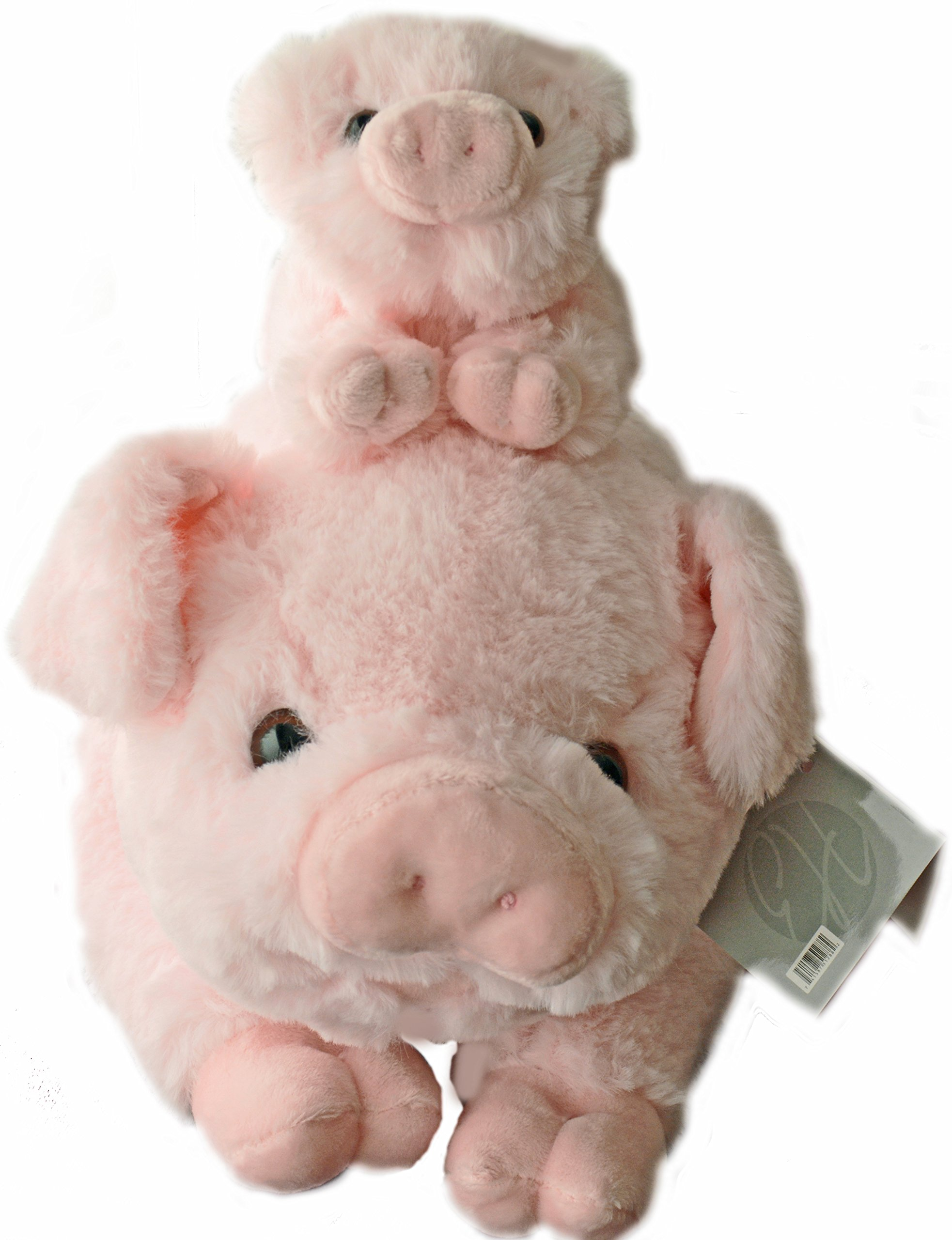 Exceptional Home Pigs Plush Stuffed Animals Set. 18 inch Pig with Baby Piglet. Kids Toys Gift Pig Animal Stuff by Exceptional Home