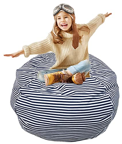 Bean Bag Chair Cover Soft Toy Storage Home Small Or Big Stuffed Animal  Storage Chairs For