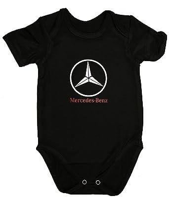 Mercedes-Benz Body bébé Unisexe Noir Manches Courtes garçon Fille  Autocollants Coton Peigné (0 f39a74e682b