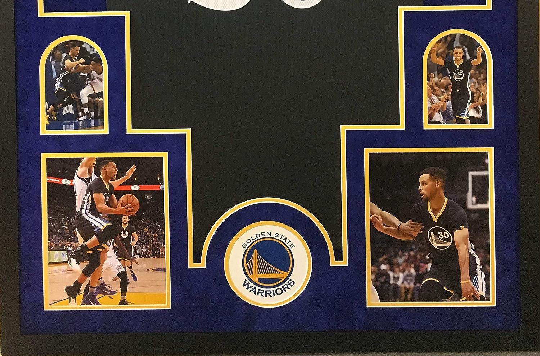 Stephen Curry Golden State Warriors Autograph Signed Custom Framed Grey Swingman Jersey Suede Mat Steiner Sports Certified