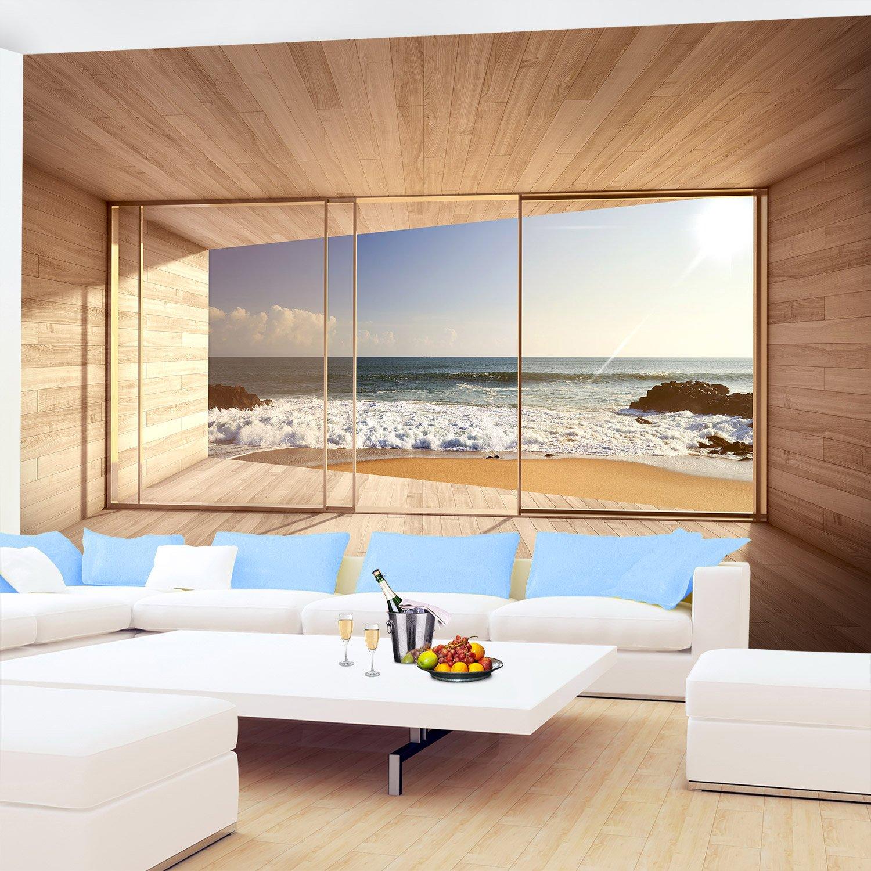 Fototapete schlafzimmer meer  Fototapete Fenster zum Meer 352 x 250 cm - Vliestapete ...