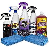 Sisbrill Kit Detail básico | Productos de Limpieza y Cuidado del Interior y Exterior | Coche y Moto