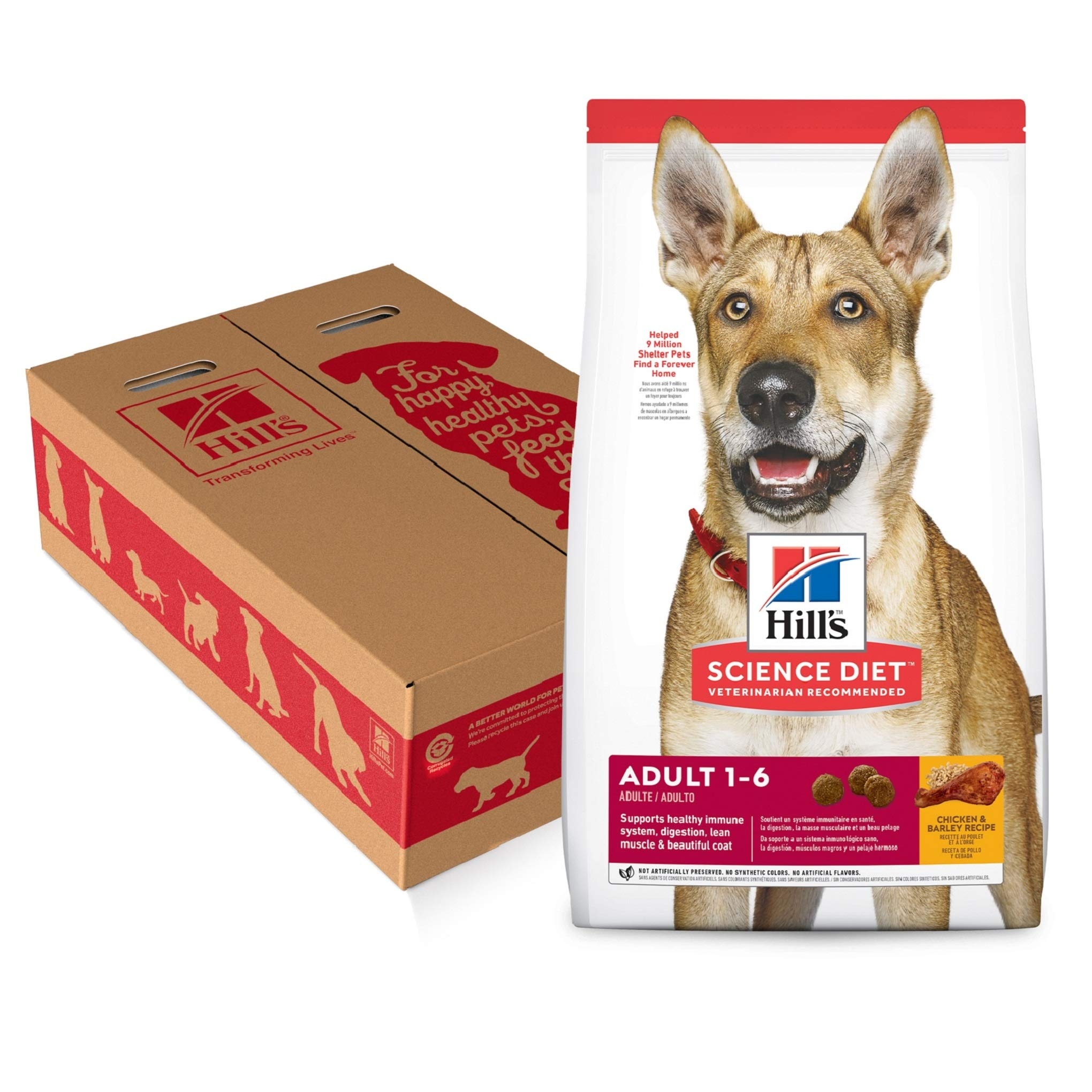 Hill's Science Diet Dry Dog Food, Adult, Chicken & Barley Recipe, 35 lb Bag by Hill's Science Diet