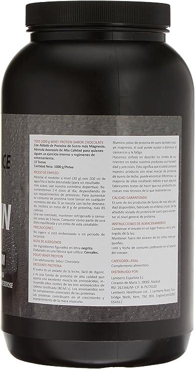 Lamberts Whey Protein Suplemento para Deportistas, Sabor a Chocolate - 1000 gr