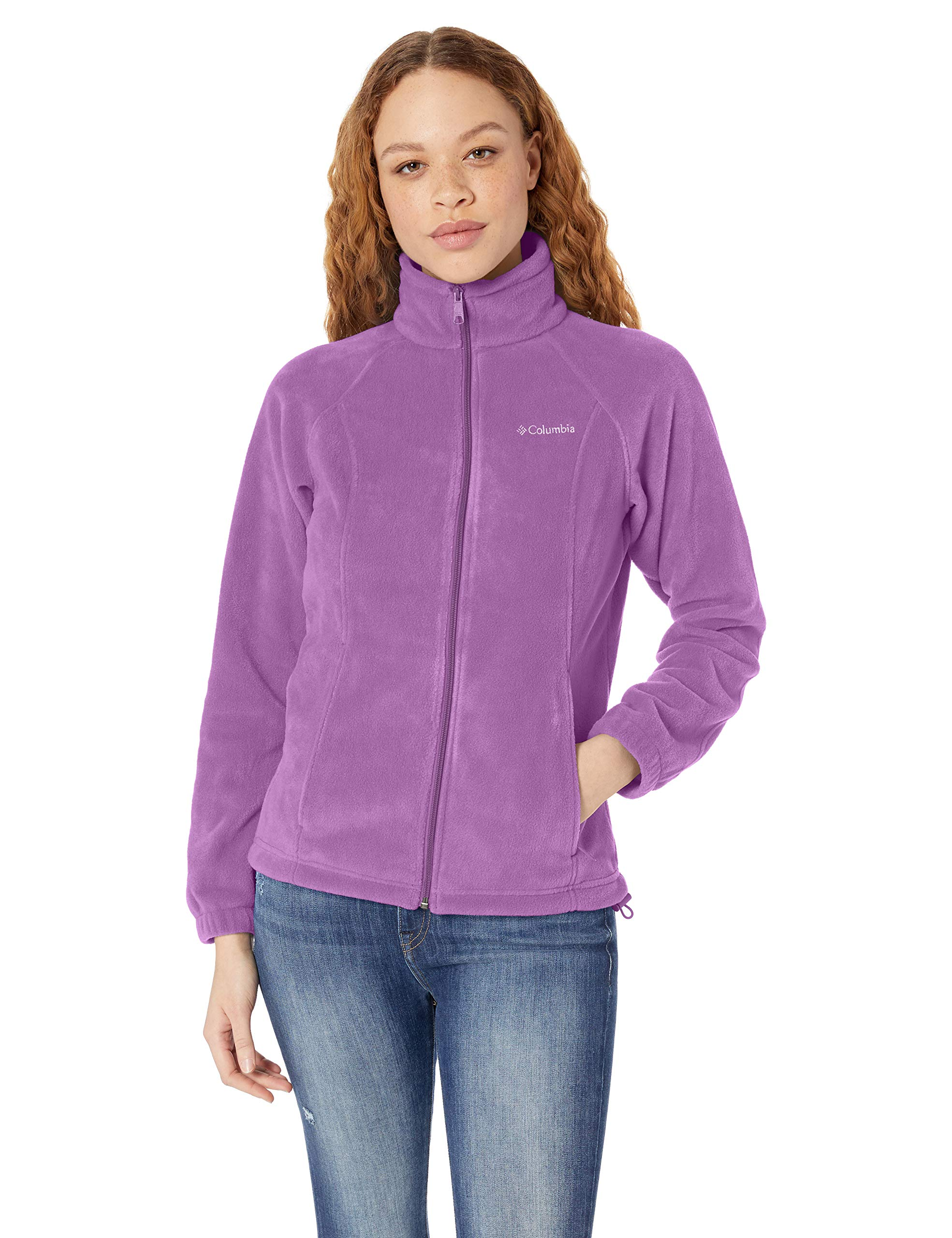Columbia Women's Benton Springs Full Zip Jacket, Soft Fleece with Classic Fit, Crown Jewel, Petite Small by Columbia