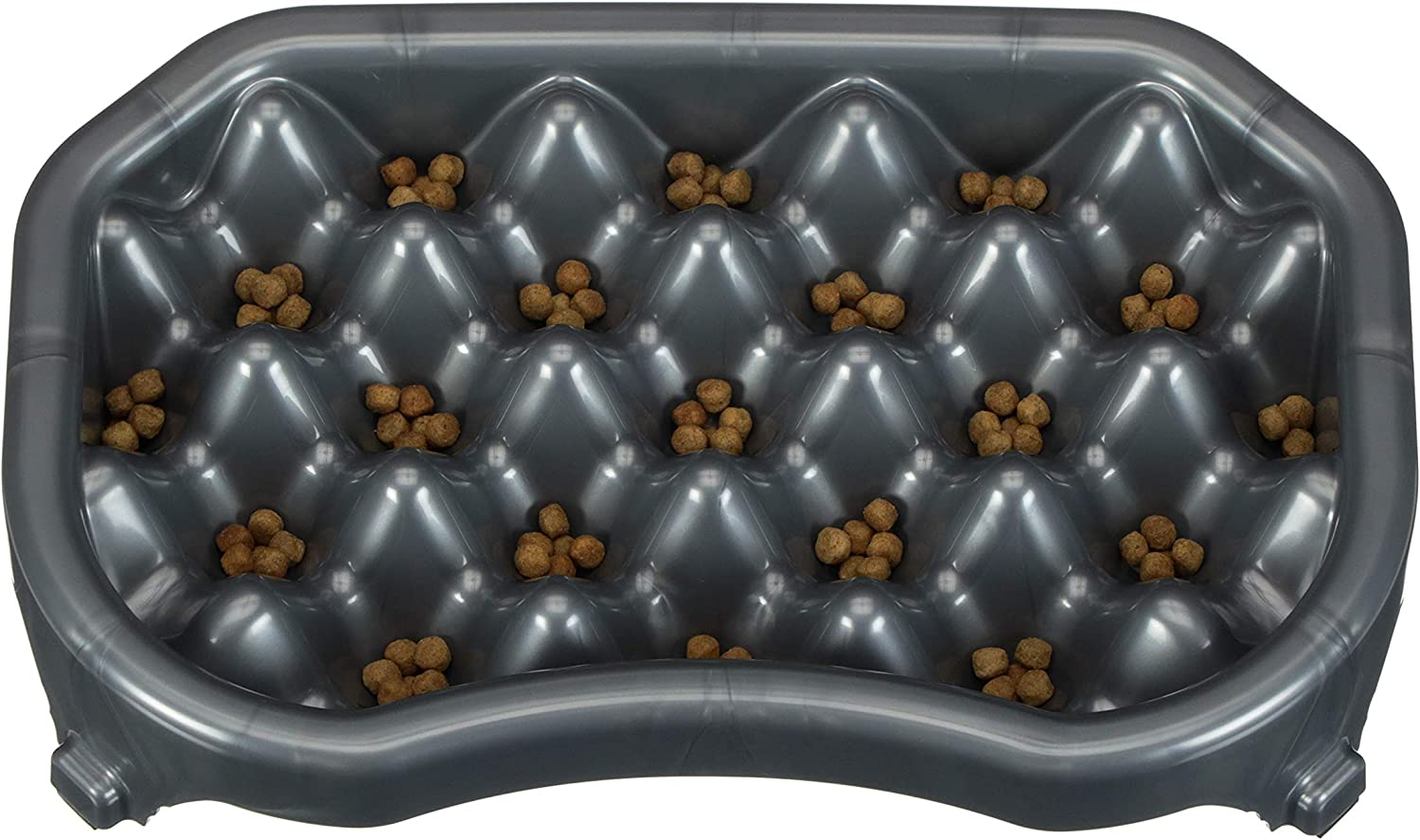 Neater Pet Brands - Neater Slow Feeder - Fun, Healthy, Stress Free Dog Bowl Helps Stop Bloat Prevents Obesity Improves Digestion (2.5 Cups, Gunmetal)