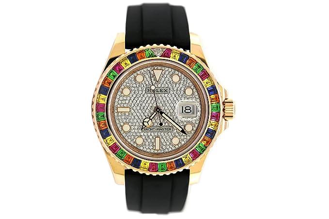 Reloj Rolex Yacht Master Everose con esfera de diamantes (116695SATS)