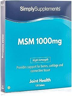 Metilsulfonilmetano MSM 1000mg - 120 cápsulas - Hasta 2 meses de suministro - Para la salud