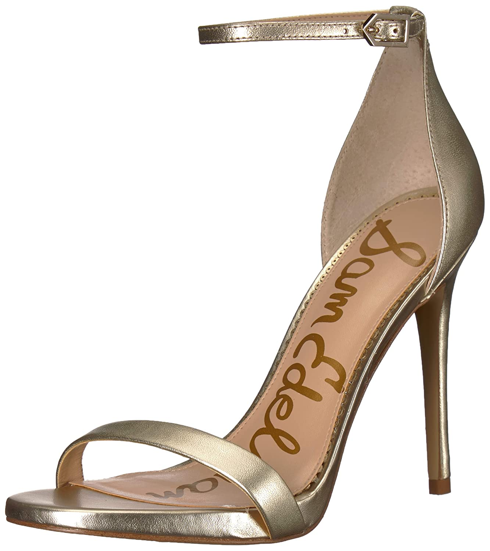 Jute Metallic Leather Sam Edelman Womens Ariella Heeled Sandal