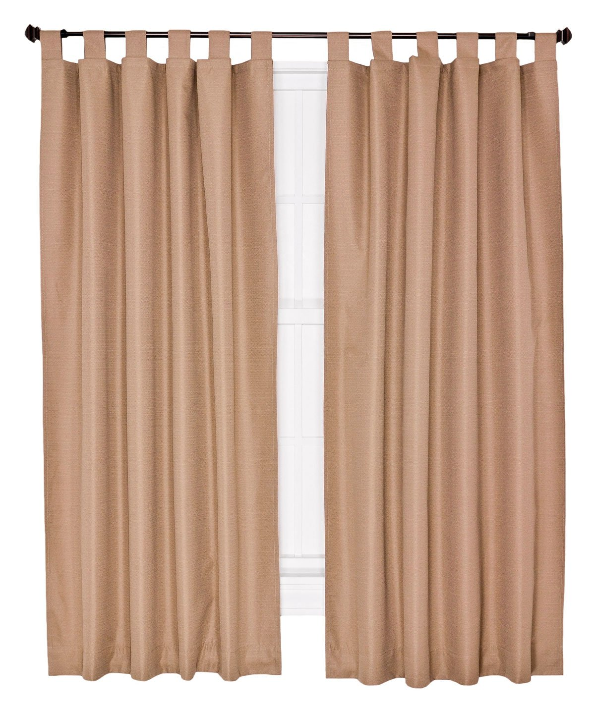 Ellis Curtain Crosby Thermal Insulated 80 by 84-Inch Tab Top Foamback Curtains, Linen
