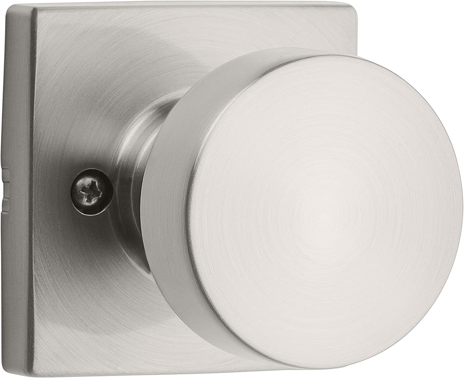 Kwikset 97880-941 Pismo Half-Dummy Square Modern Door Knob with Microban Antimicrobial Protection for a Home Pantry or Closet, Satin Nickel