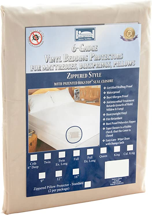 Zippered Mattress Cover with Ultra Fresh AntiMicrobial Treatment King