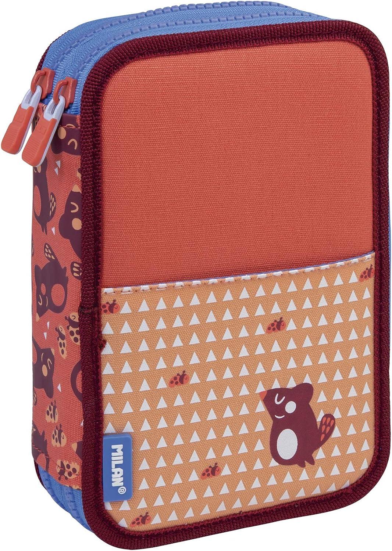 MILAN Plumier 2 Pisos Con Contenido Net&lit Rosa Estuches, 20 cm, Rosa: Amazon.es: Ropa y accesorios