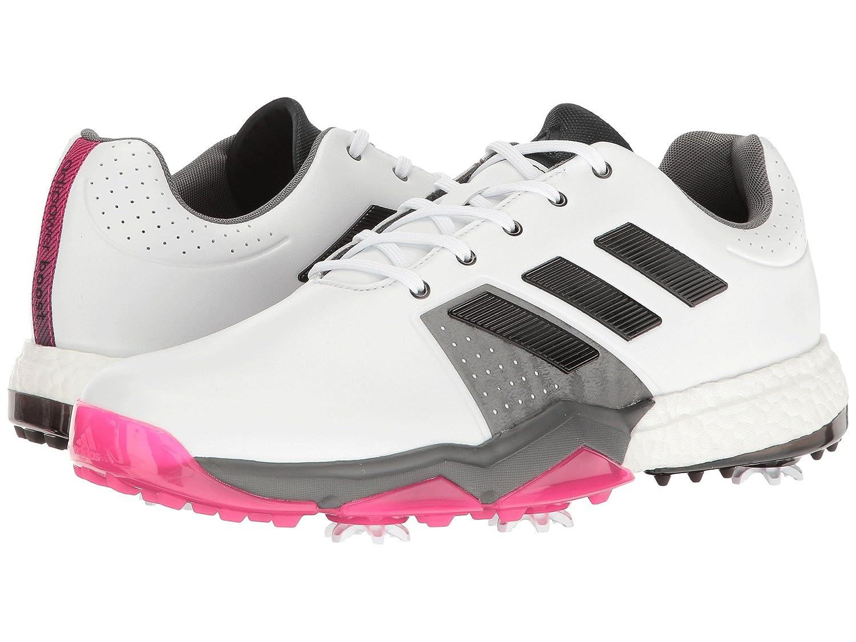 ゴルフ] White/Core 3  Boost スニーカー [並行輸入品] Wide Black/Shock E メンズ Golf US15 [アディダス adidas Pink B06VX3YHNX Adipower -  Ftwr -