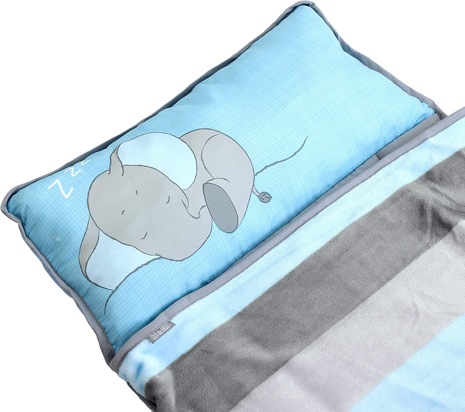 Pillow for Boys or Girls Blanket Baby Elephant Foldable Comfy Cover Toddler Nap Mats for Preschool Kinder Daycare