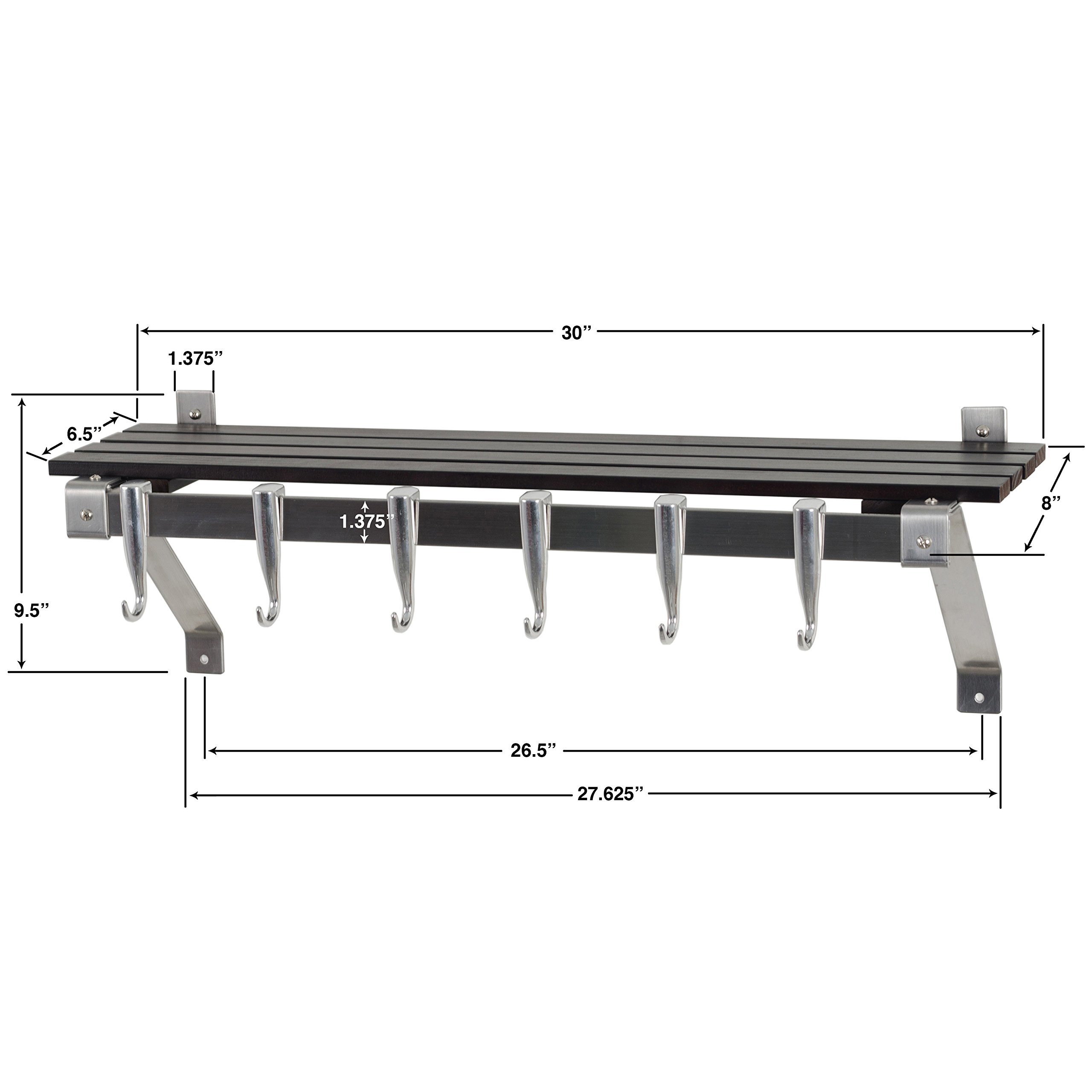 Concept Housewares Stainless Steel Espresso Finish Wall Rack by Concept Housewares