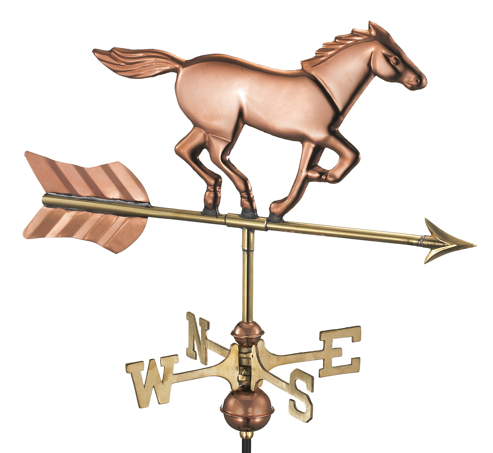 Good Directions Horse Cottage Weathervane with Roof Mount, Pure Copper
