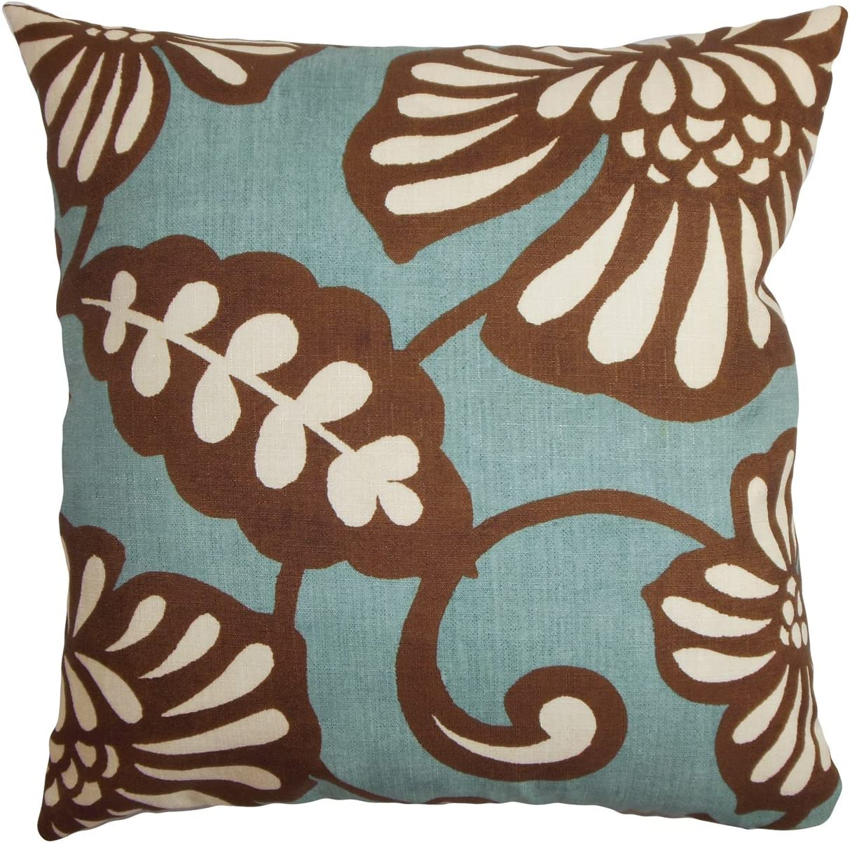 The Pillow Collection Talin Floral Throw Pillow Cover