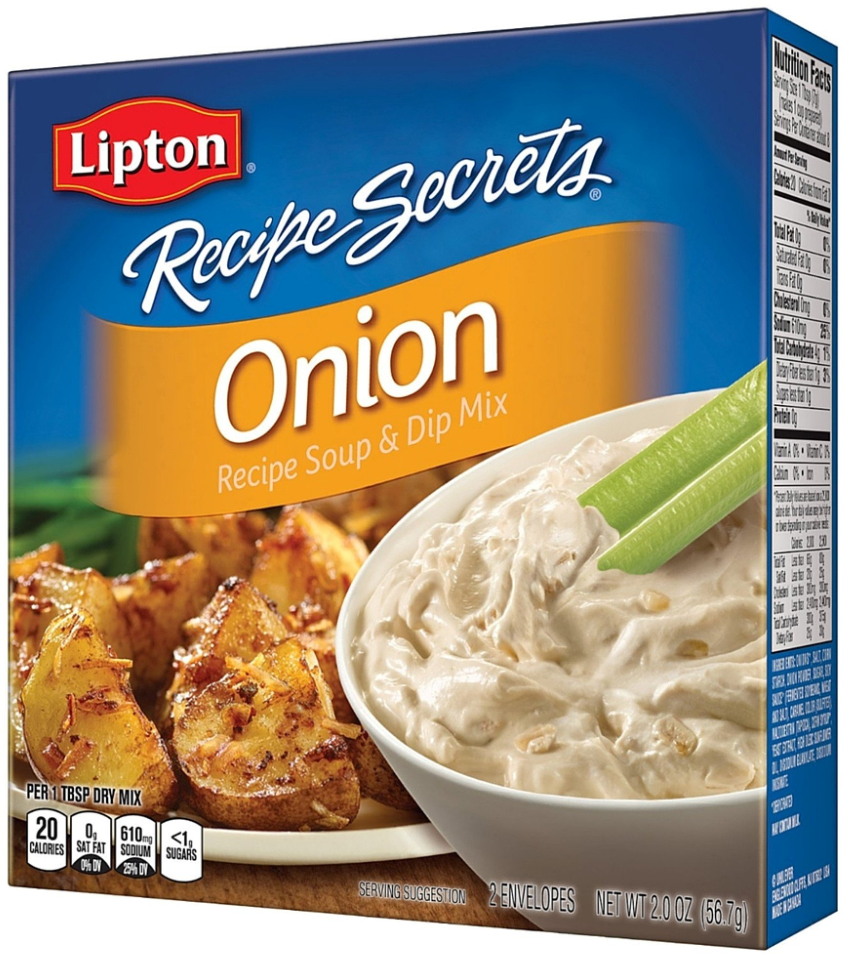 Lipton Recipe Secrets Onion Soup and Dip Mix 2 ea (9 Pack) by Lipton