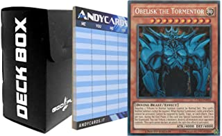 Yu-Gi-Oh! OBELISK THE TORMENTOR - Secret Rare CT13 EN002 plus 1 Black Deck Box God-Player and 1 Scorepad ANDYCARDS