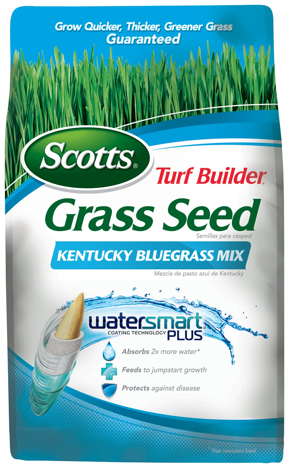 Scotts 18269 Turf Builder Kentucky Blue Mix Grass Seed (4 Pack), 7 lb