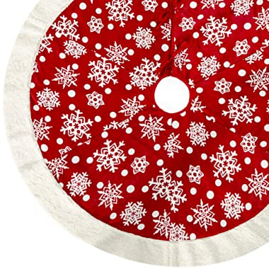 amoHome 50 Inches Christmas Tree Skirt Ornament - Holiday New Year Party Decoration