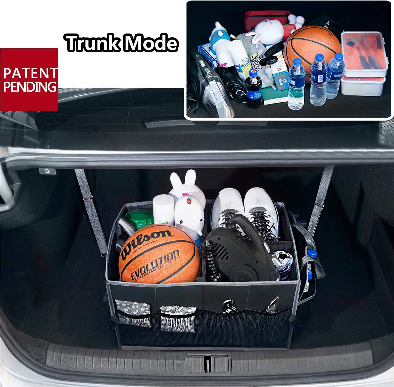 SUV Auto Kofferraum Truck Minivan Organizer Auto EletecPro Kofferraumtasche Universal Auto Kofferraum Organizer mit Klett Vielen F/ächern Faltbare Gro/ße Kapazit/ät Ideal f/ür Auto