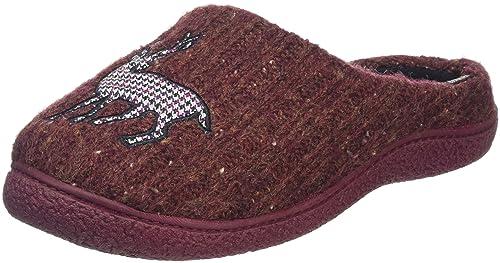 Isotoner Novelty Mule, Zapatillas de Estar por Casa para Hombre, Rojo (Burgundy), 41/42 EU: Amazon.es: Zapatos y complementos