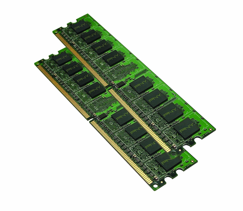 PNY Optima 4GB (2x2 GB) DDR2 800 MHz PC2-6400 Desktop DIMM Memory Module Dual Channel Kit - MD4096KD2-800
