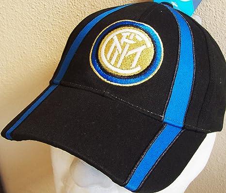 CAPPELLO CAPPELLINO INTER UFFICIALE BERRETTO CAP con VISIERA (NERO ... 7bbe0eff82f1