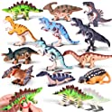 12 Piece Wind Up Assorted Dinosaur Toys