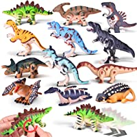 12-Pieces Wind Up Assorted Dinosaur Toys