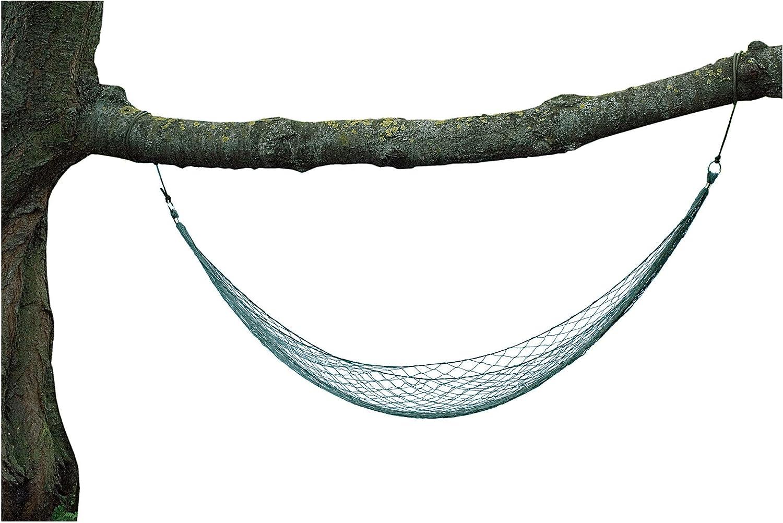 M-T 33180. Hamaca mini MIL-TEC. Verde oliva. Nylon. 220 cm. Herramienta para Camping, Outdoor y Supervivencia