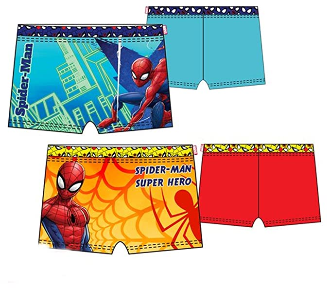 Pack de 2 Bañadores (Tipo Boxer) 2 Modelos Diferentes Diseño Spiderman (Marvel)