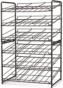 Simple Trending 2 Pack Can Rack Organizer, Stackable Can Storage Dispenser Holds up to 72 Cans for Kitchen Cabinet or Pantry, Bronze