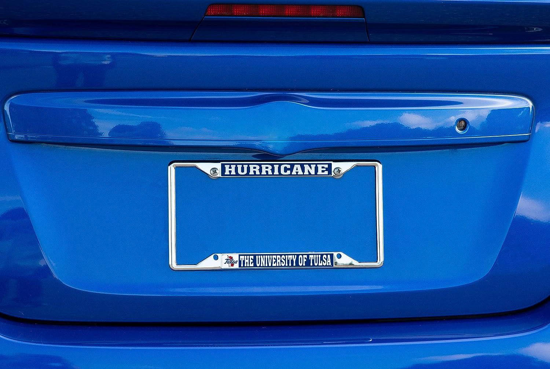 Mascot Desert Cactus University of Tulsa Golden Hurricane NCAA Metal License Plate Frame for Front or Back of Car Officially Licensed
