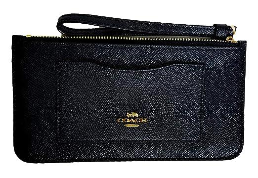 Amazon.com  Coach Crossgrain Leather Top Zip Wristlet Wallet F39236 ... 1ed77a4deb7a9